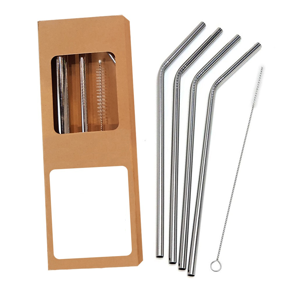 Promotional reusable metal straws