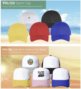 Promotional Caps Colour Options