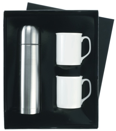 Flask & Mugs Gift Set